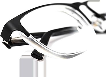 Paire de lunettes équipée de verres progressifs