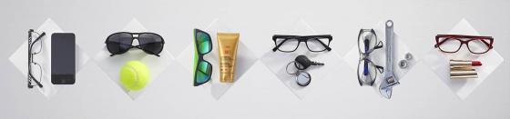 Verres progressifs de lunettes pour activités, sports, loisirs pour les presbytes