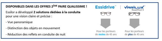 L'offre Qualissime 2nde paire de verres, dédiée à la conduite